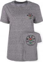 RVCA T-Shirts Rosie heathergrey vorderansicht 0398768