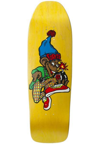 New-Deal Skateboard Decks Danny Sargent Monkey Bomber Screenprint yellow vorderansicht 0262730