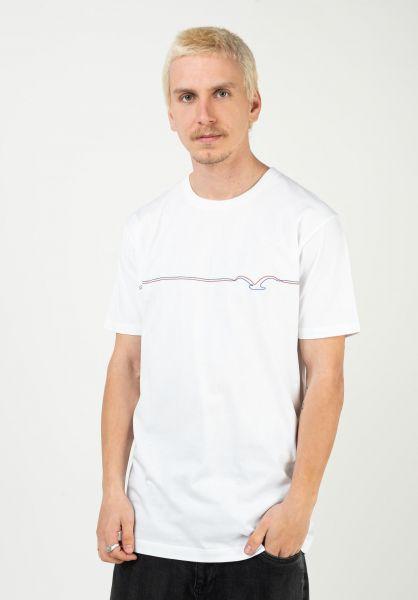 Cleptomanicx T-Shirts Möwe Pufflines white vorderansicht 0323005