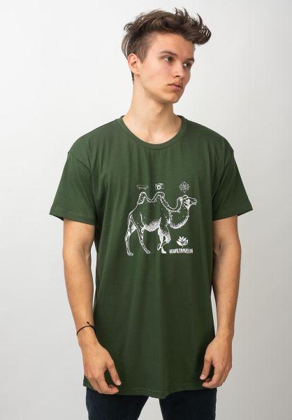 Magenta T-Shirts Camel green vorderansicht 0320215