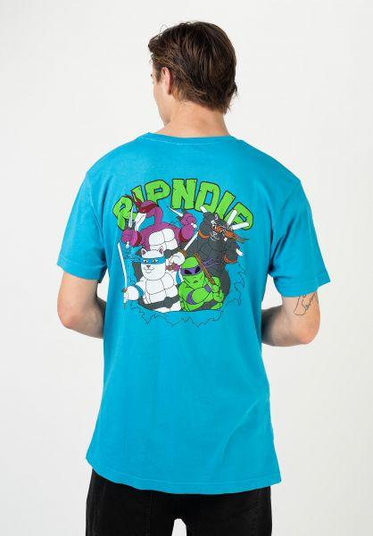 Rip N Dip T-Shirts Teenage Mutant blue vorderansicht 0323020