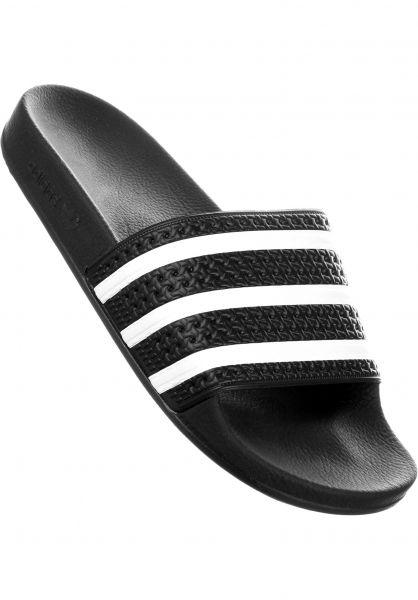 finest selection b8c17 215bc adidas Sandalen Adilette black-white vorderansicht 0620177