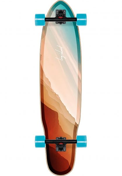 Long Island Longboards komplett Chasm 38.85´´ Kicktail multicolored vorderansicht 0194315