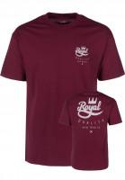 Royal T-Shirts Classic Crown Script burgundy Vorderansicht