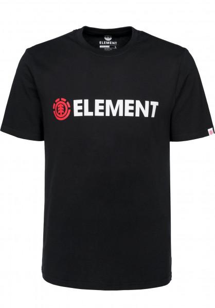 Element T-Shirts Blazin flintblack Vorderansicht
