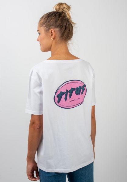 TITUS T-Shirts Karica-Backprint white vorderansicht 0399293