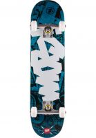 MOB-Skateboards Skateboard komplett Tape Desk blue-white Vorderansicht