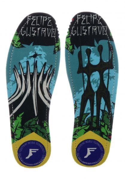 Footprint Insoles Einlegesohlen Kingfoam Flat Gustavo Brasa multicolored Vorderansicht