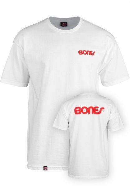 Bones Bearings T-Shirts Text white vorderansicht 0378608