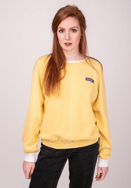 RVCA Sweatshirts und Pullover Hangtown Fleece mustard vorderansicht 0422585