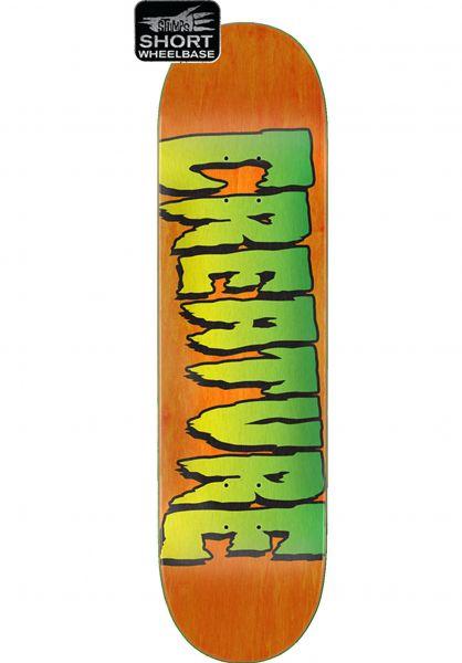 Creature Skateboard Decks Logo Stumps orange vorderansicht 0264446