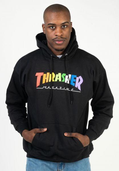 Thrasher Hoodies Rainbow Mag black vorderansicht 0446107