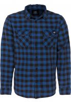Dickies Hemden langarm Rock Hall blue Vorderansicht
