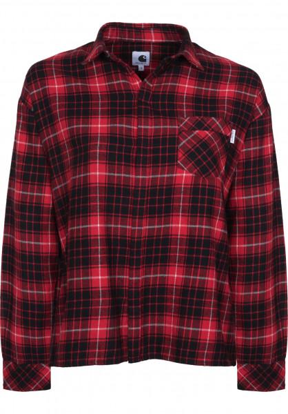 Carhartt WIP Hemden kurzarm W' L/S Savage stoutcheck-rosehip Vorderansicht