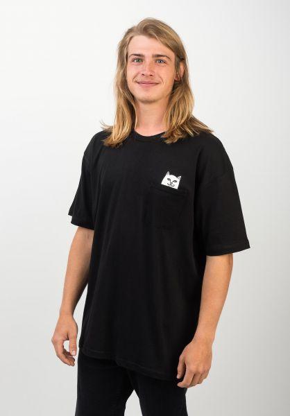 Rip N Dip T-Shirts Lord Nermal Pocket black vorderansicht 0393476