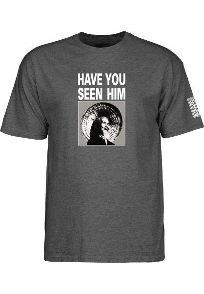 Powell-Peralta T-Shirts Animal Chin charcoal-heather Vorderansicht