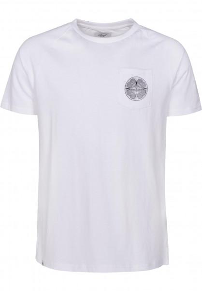 Reell T-Shirts Universe Pocket white Vorderansicht