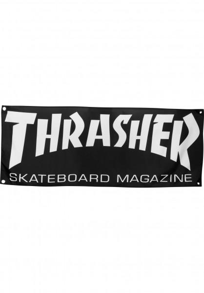 Thrasher Verschiedenes Skate Mag Banner black Vorderansicht