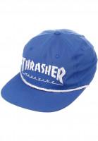 Thrasher Caps Rope Snapback blue Vorderansicht
