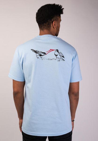Lakai T-Shirts Early Bird powderblue vorderansicht 0320176