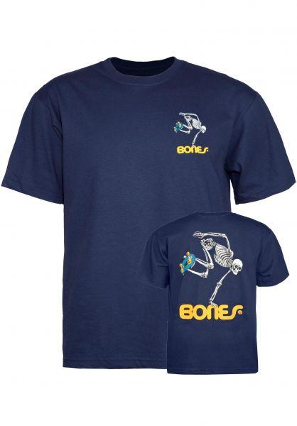Powell-Peralta T-Shirts Skateboard Skeleton Kids navy vorderansicht 0396442
