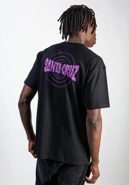 Santa-Cruz T-Shirts Ripple black vorderansicht 0320036