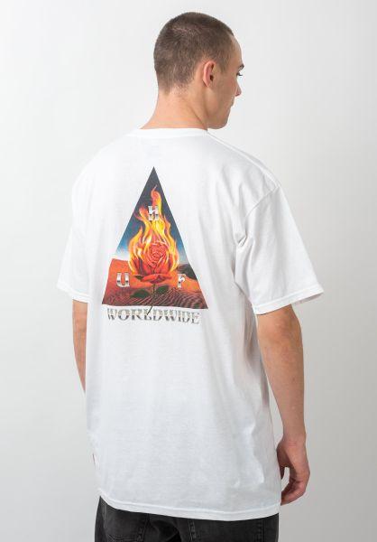 HUF T-Shirts Ember Rose white vorderansicht 0321381