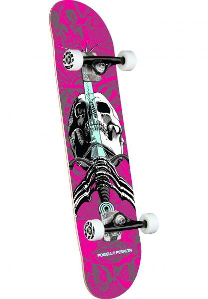 Powell-Peralta Skateboard komplett Skull & Sword one off-pink vorderansicht 0160763
