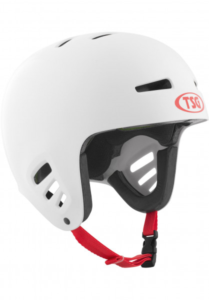 TSG Helme Dawn Flex Solid Color white Vorderansicht