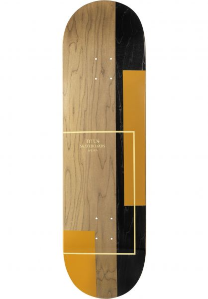 TITUS Skateboard Decks Split yellow-yellow vorderansicht 0261388