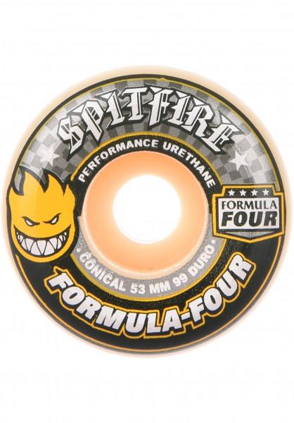 Spitfire Rollen Formula Four Conical Yellow 99A white Vorderansicht