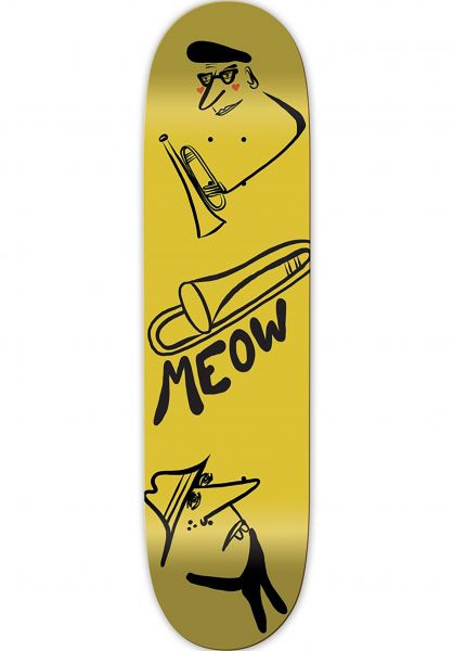 Meow Skateboards Skateboard Decks Jazz yellow vorderansicht 0261805