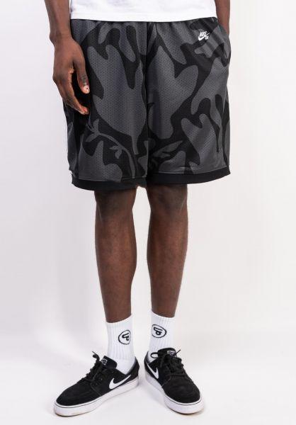 Nike SB Sweatshorts DFT Print Court black-white vorderansicht 0245037