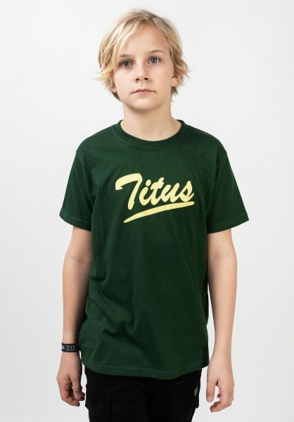 TITUS T-Shirts Mason kids greenheather vorderansicht 0320799