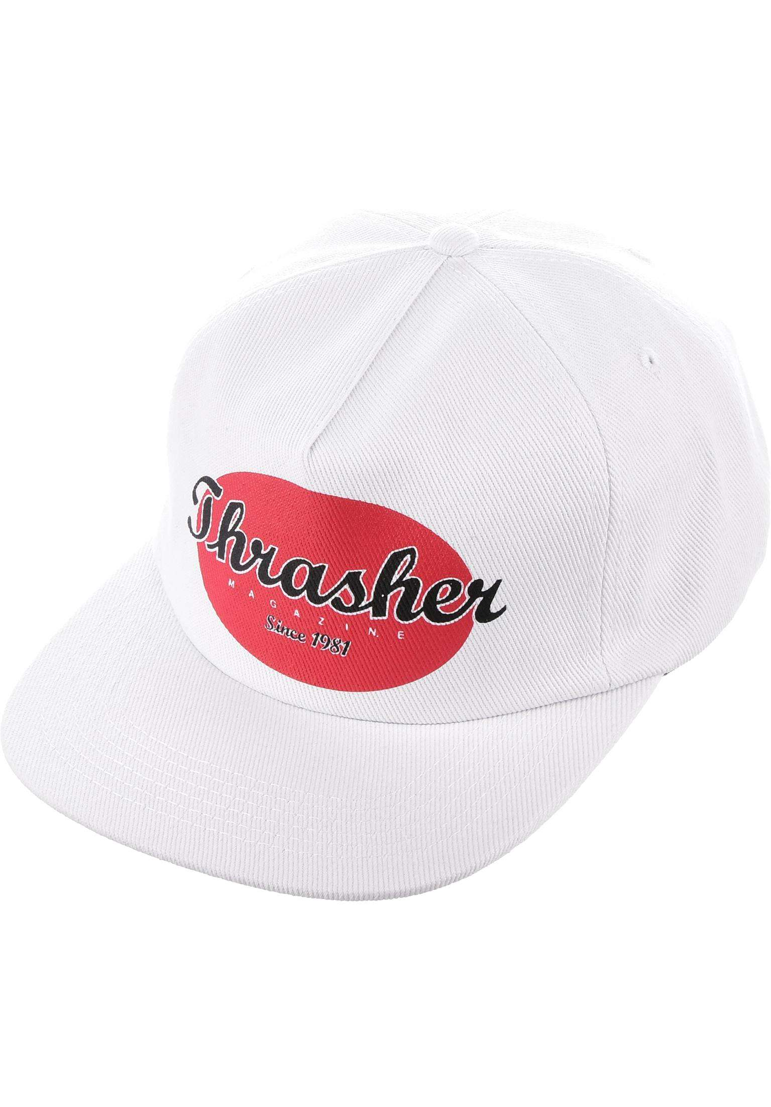 6e793b01cc1 Oval Snapback Thrasher Caps in white for Men