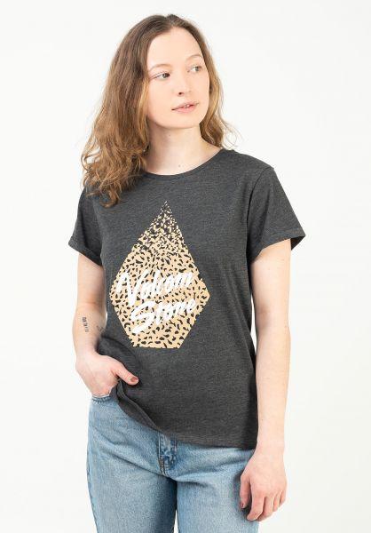 Volcom T-Shirts Radical Daze charcoal-animalprint vorderansicht 0399518