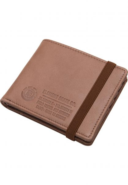 Element Portemonnaie Endure L II brown vorderansicht 0781048