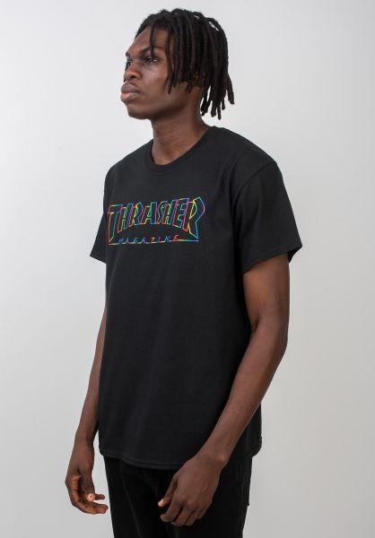 Thrasher T-Shirts Spectrum black vorderansicht 0320338
