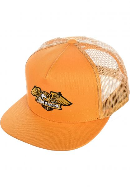 Loser-Machine Caps Wings Trucker gold vorderansicht 0565367