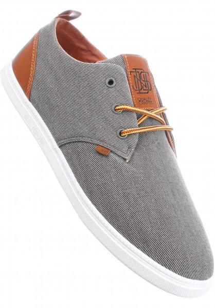 Djinns Alle Schuhe LowLau Washed Canvas grey Vorderansicht