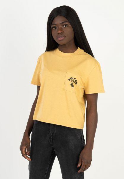 Volcom T-Shirts Pocket Dial dustgold vorderansicht 0321473