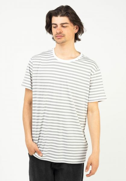 Globe T-Shirts Horizon Striped white vorderansicht 0323549