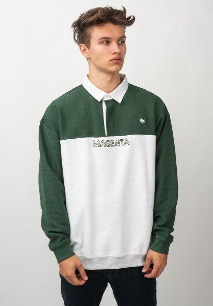 Magenta Polo-Shirts Smash Duo darkgreen-ash vorderansicht 0138398