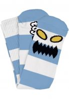 Toy-Machine Socken Monster Big Stripe light-blue Vorderansicht