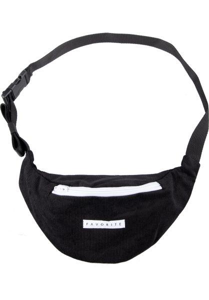 Favorite Hip-Bags Corduroy black vorderansicht 0169105