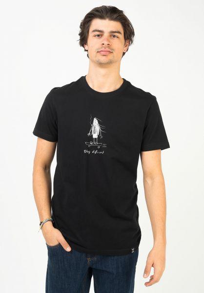 iriedaily T-Shirts Skate Dude black vorderansicht 0323195