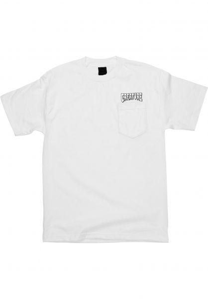 Creature T-Shirts Logo Pocket white vorderansicht 0323950