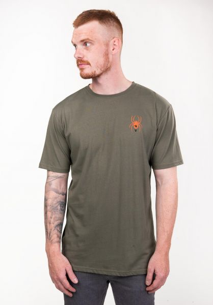 TITUS T-Shirts Cobweb olive vorderansicht 0397373