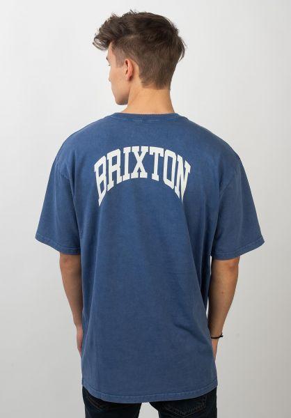 Brixton T-Shirts Forte V monacoblue vorderansicht 0320760