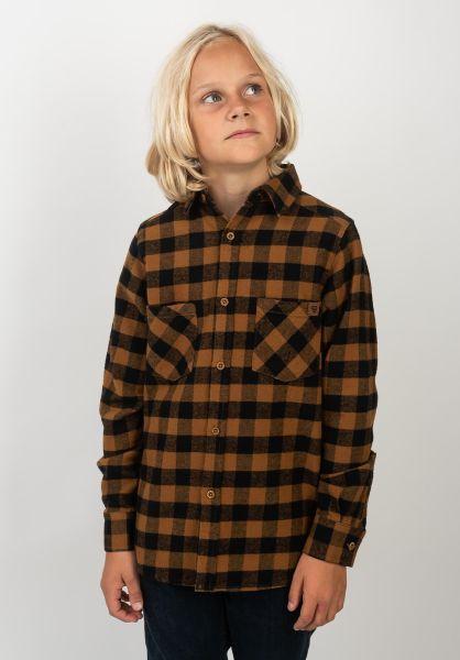 TITUS Hemden Adam Kids brown-checked vorderansicht 0411385